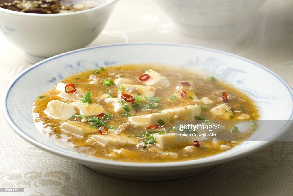 Chinese style Mabo Tofu : Stock Photo
