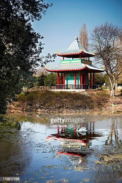 Chinese style pagoda, London, England, UK