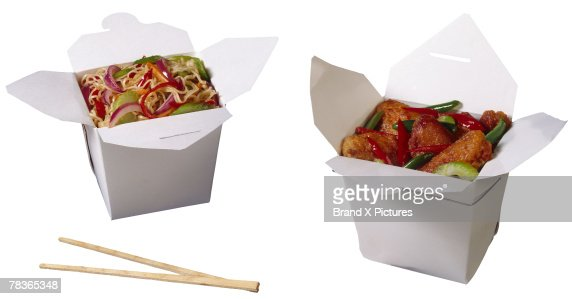 Chinese takeout food : Stock Photo