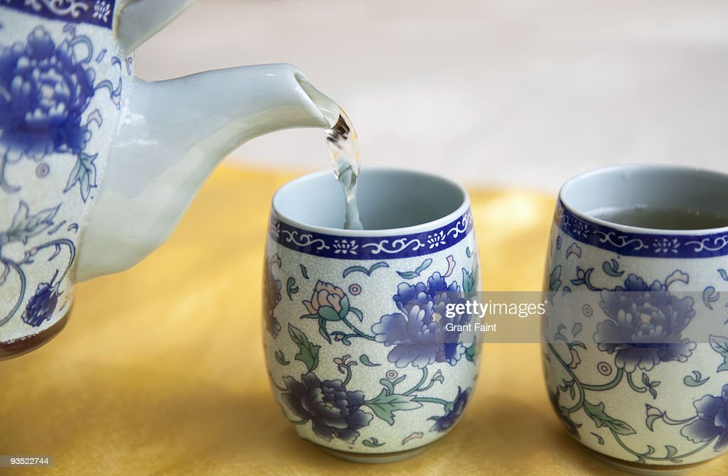 Chinese tea being poured : Stock Photo