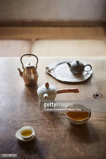 Chinese tea set arranged for tea ceremony