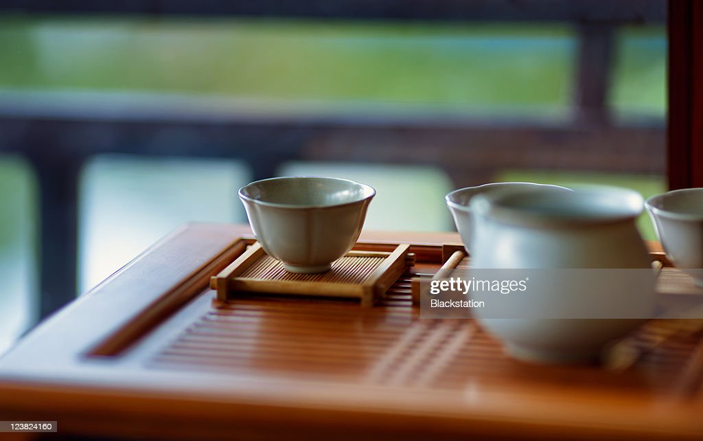 Chinese teacup : Stock Photo