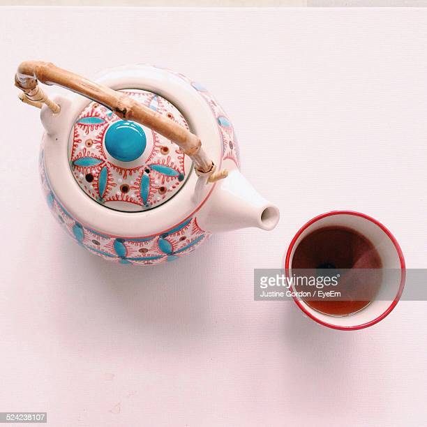 Chinese Teapot On White Background