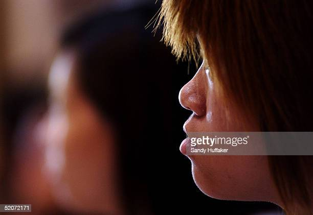 A Chinese teenager who was caught trying to enter the United States illegaly sits in a class at the Southwest Key compund January 27 2005 in Lakeside...