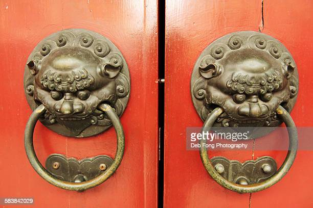 Chinese temple door knockers
