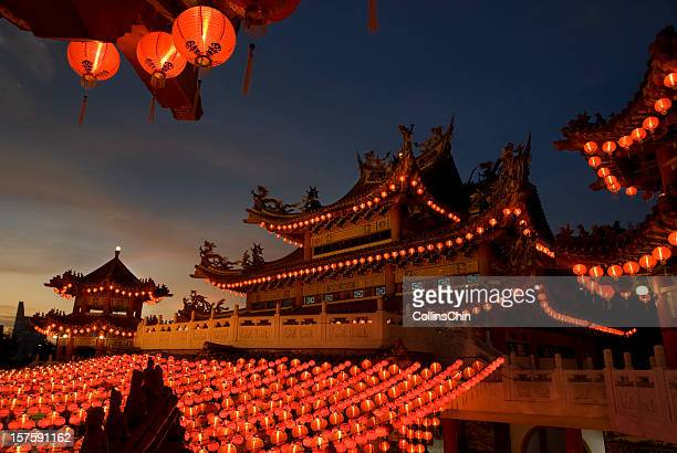 Chinese Temple - Evening scene