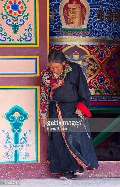 Chinese Tibetan woman in Qinghai Province China.