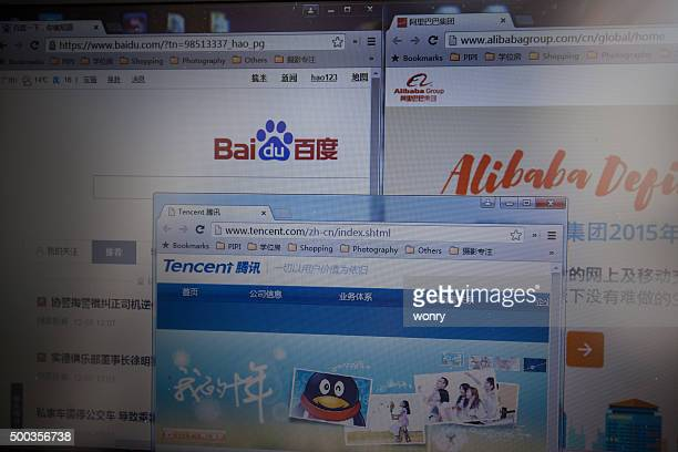 Chinese Top 3 internet corporations' websites