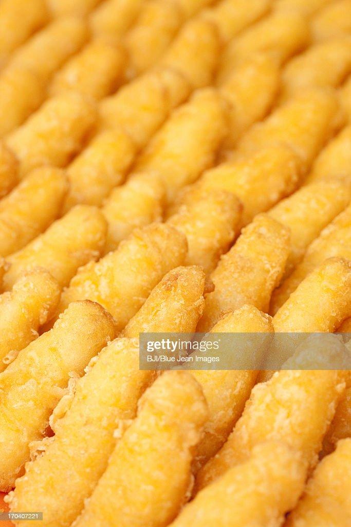 Chinese traditional dim sum crispy durian cake : Stock Photo