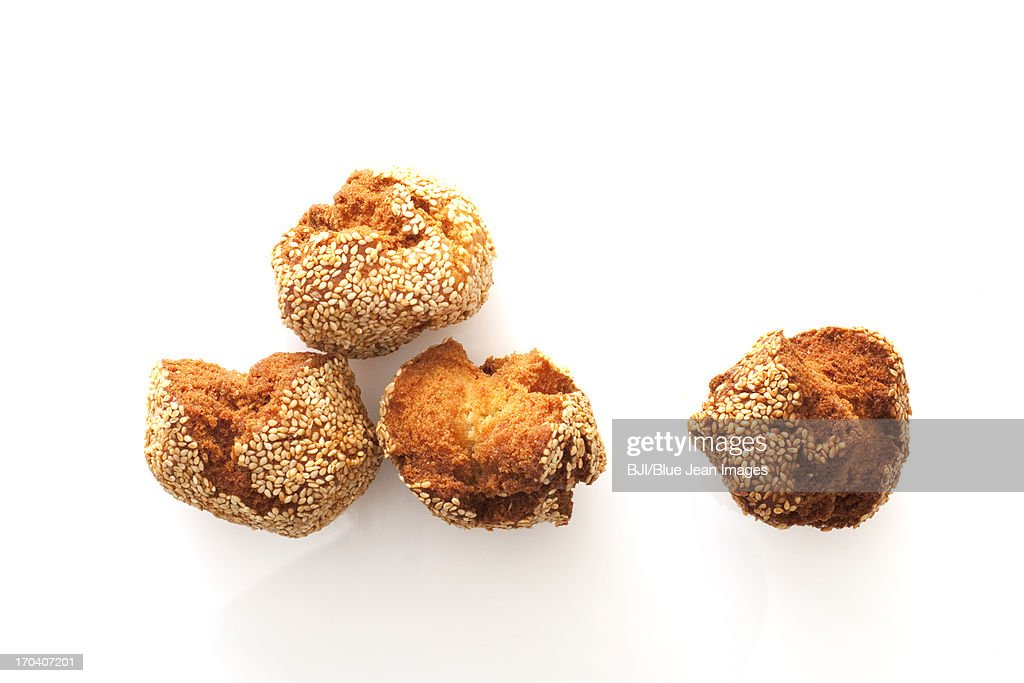 Chinese traditional dim sum deep-fried dough cake : Stock Photo