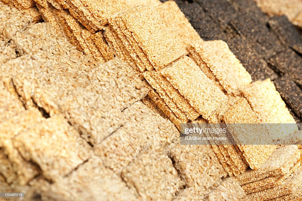 Chinese traditional dim sum seed cake : Stock Photo