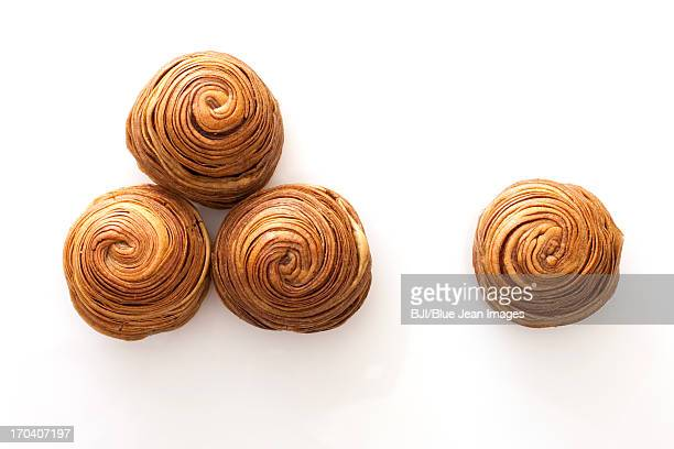 Chinese traditional dim sum snail-shaped bun