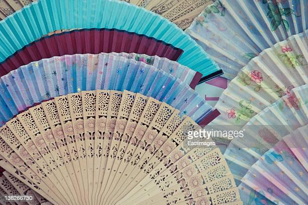 Chinese traditional fan xi'an china