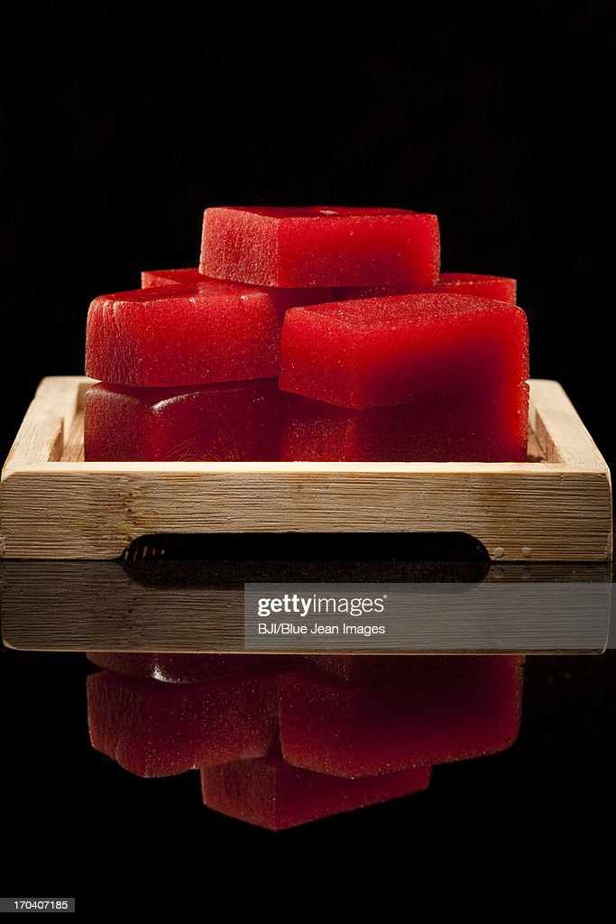 Chinese traditional food haw jelly : Stock Photo