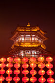 Chinese traditional lanterns and building