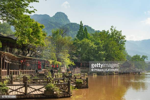 Chinese traditional pier by  Liujiang river