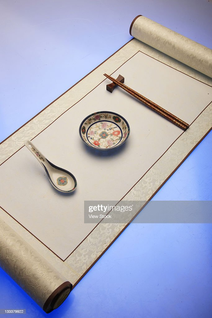 Chinese Traditional Scroll,Still Life : Stock Photo
