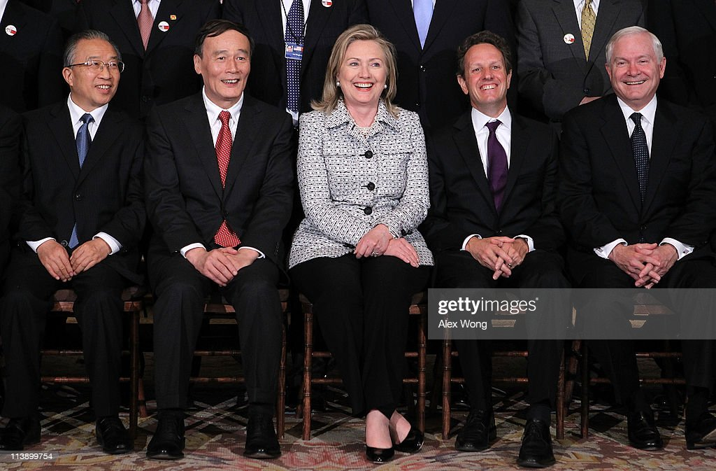 Chinese Vice Premier Wang Qishan Chinese State Councilor Dai Bingguo US Secretary Hillary Clinton Secretary of the Treasury Timothy Geithner...