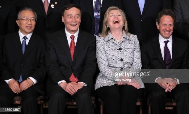 Chinese Vice Premier Wang Qishan Chinese State Councilor Dai Bingguo US Secretary Hillary Clinton and Secretary of the Treasury Timothy Geithner...