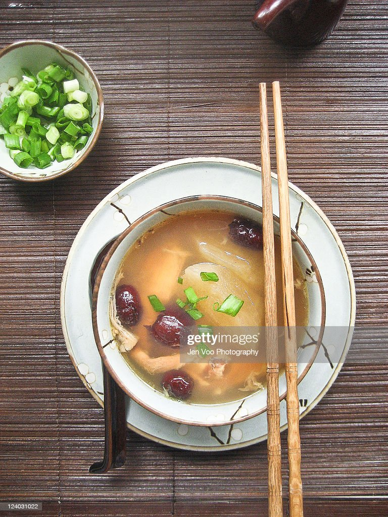 Chinese winter melon soup : Stock Photo