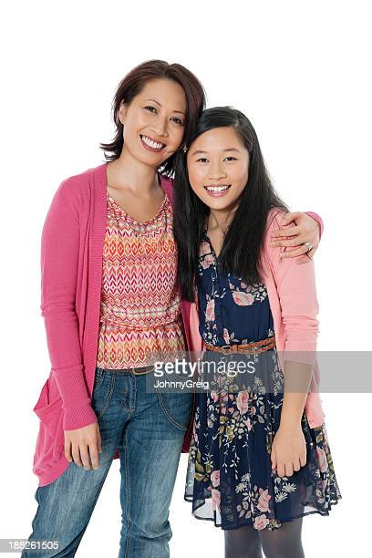 Chinese Woman Embracing Her Daughter