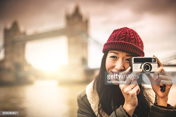 chinese woman photographing in London
