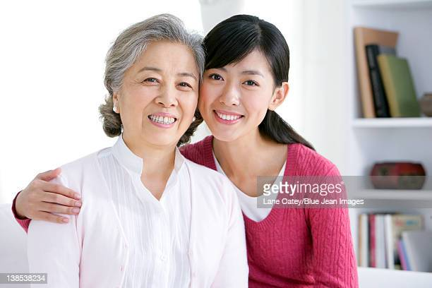 Chinese woman with adult daughter