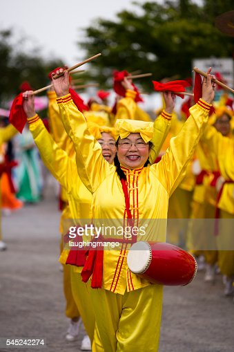 Chinese Women Parade Canada Day