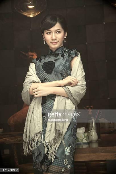 Chinese women wearing traditional dress