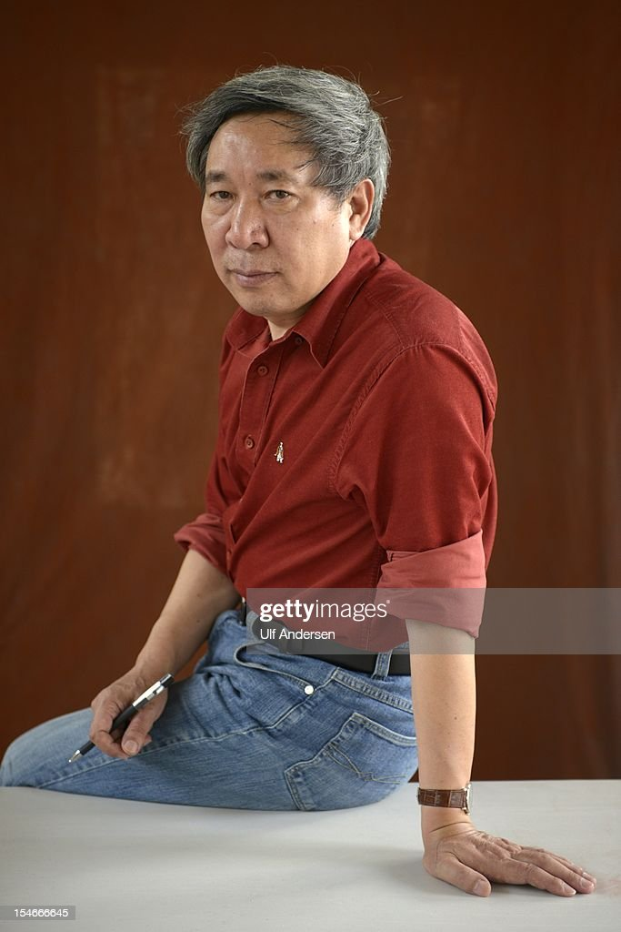 PROVENCE, FRANCE - OCTOBER 20. Chinese writer Yan Lianke poses during a portrait session held on October 20, 2012 in Aix en Provence, France.