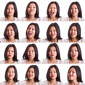 Chinese Young Woman Collection of Expressions