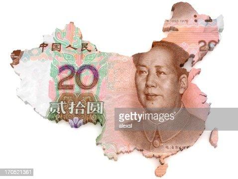 Chinese Yuan map
