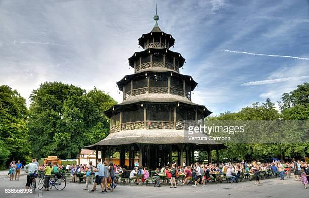 Chinesischer Turm (Chinese Tower) in Munich - Germany