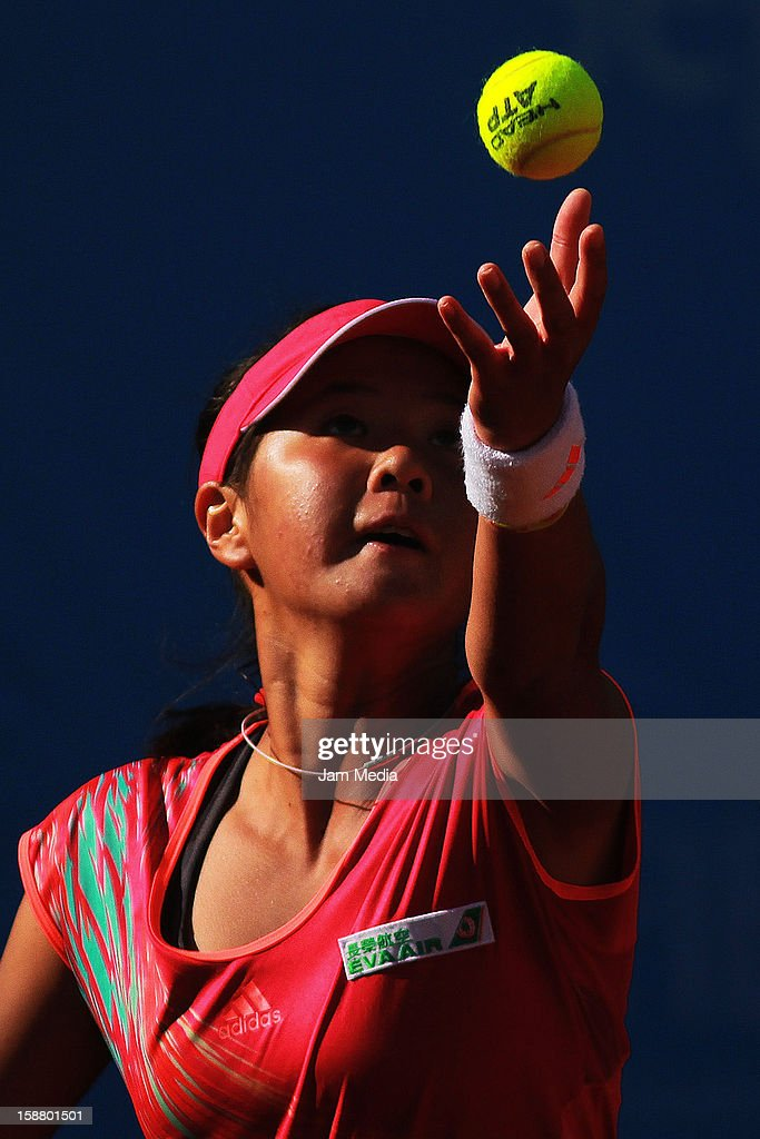 Ching-Wen Hsu of Taipei during the Mexican Youth Tennis Open at Deportivo Chapultepec on December 29, 2012 in Mexico City, Mexico.