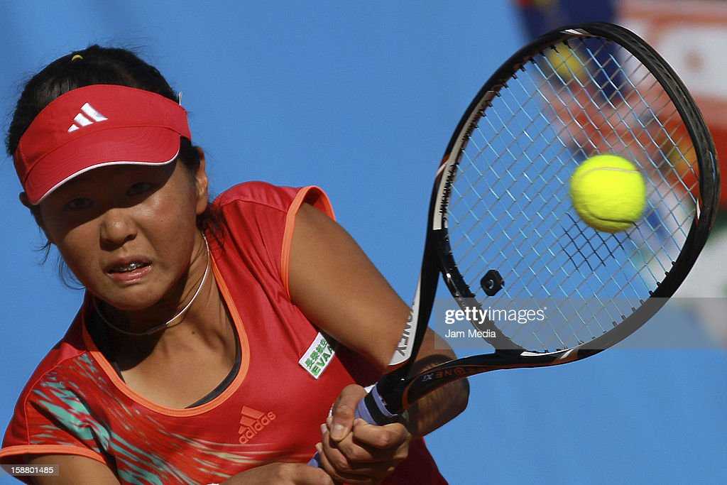 Ching-Wen Hsu of Taipei, in action during the Mexican Youth Tennis Open at Deportivo Chapultepec on December 28, 2012 in Mexico City, Mexico.