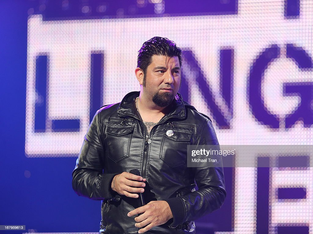 <a gi-track='captionPersonalityLinkClicked' href=/galleries/search?phrase=Chino+Moreno&family=editorial&specificpeople=2378076 ng-click='$event.stopPropagation()'>Chino Moreno</a> of Deftones performs at the 5th Annual Revolver Golden Gods Award Show held at Club Nokia on May 2, 2013 in Los Angeles, California.