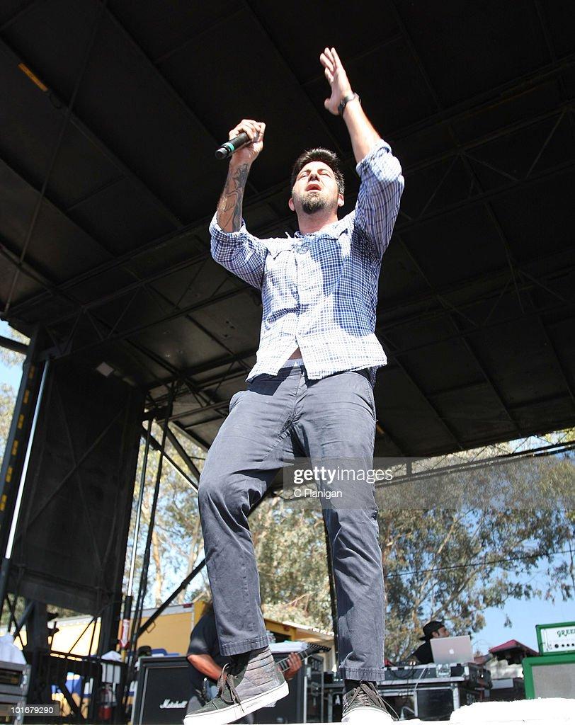 Chino Moreno of Deftones performs at the Verizon Wireless Amphitheatre on June 5, 2010 in Laguna Hills, California.