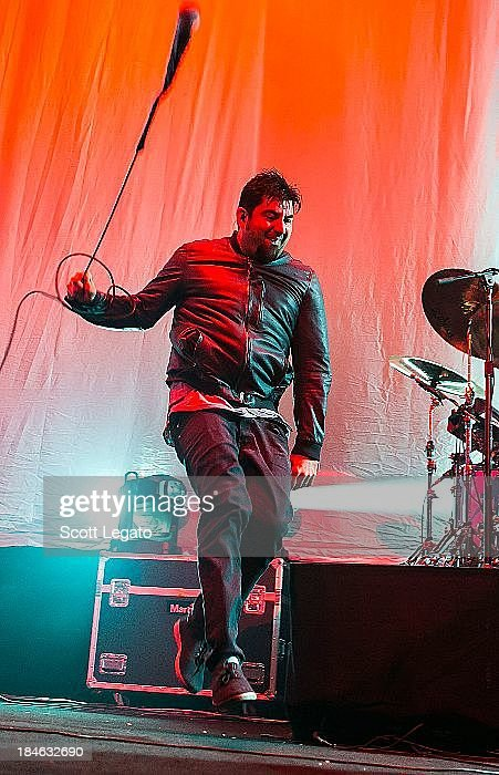<a gi-track='captionPersonalityLinkClicked' href=/galleries/search?phrase=Chino+Moreno&family=editorial&specificpeople=2378076 ng-click='$event.stopPropagation()'>Chino Moreno</a> of the Deftones performs at Joe Louis Arena on October 13, 2013 in Detroit, Michigan.