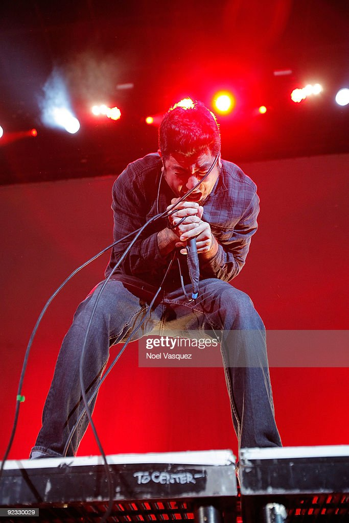 Chino Moreno of the Deftones performs at the Cypress Hill's Smokeout at the San Manuel Amphitheater on October 24 2009 in San Bernardino California