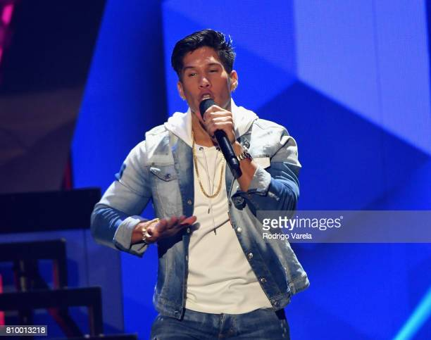 Chino performs on stage during Univision's 'Premios Juventud' 2017 Celebrates The Hottest Musical Artists And Young Latinos ChangeMakers at Watsco...