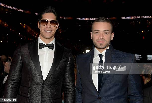 Chino y Nacho attend the 2015 Premios Lo Nuestros Awards at American Airlines Arena on February 19 2015 in Miami Florida