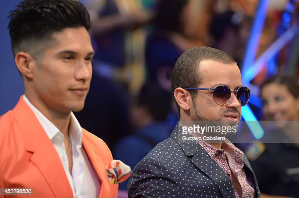 Chino y Nacho attends the Premios Juventud 2014 at The BankUnited Center on July 17 2014 in Coral Gables Florida