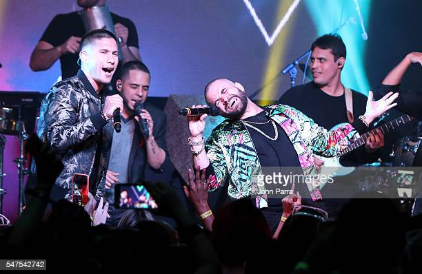 Chino Y Nacho perform during McDonald's All Day Breakfast Bash At Premios Juventud After Party Presented By McDonald's on July 14 2016 in Miami...