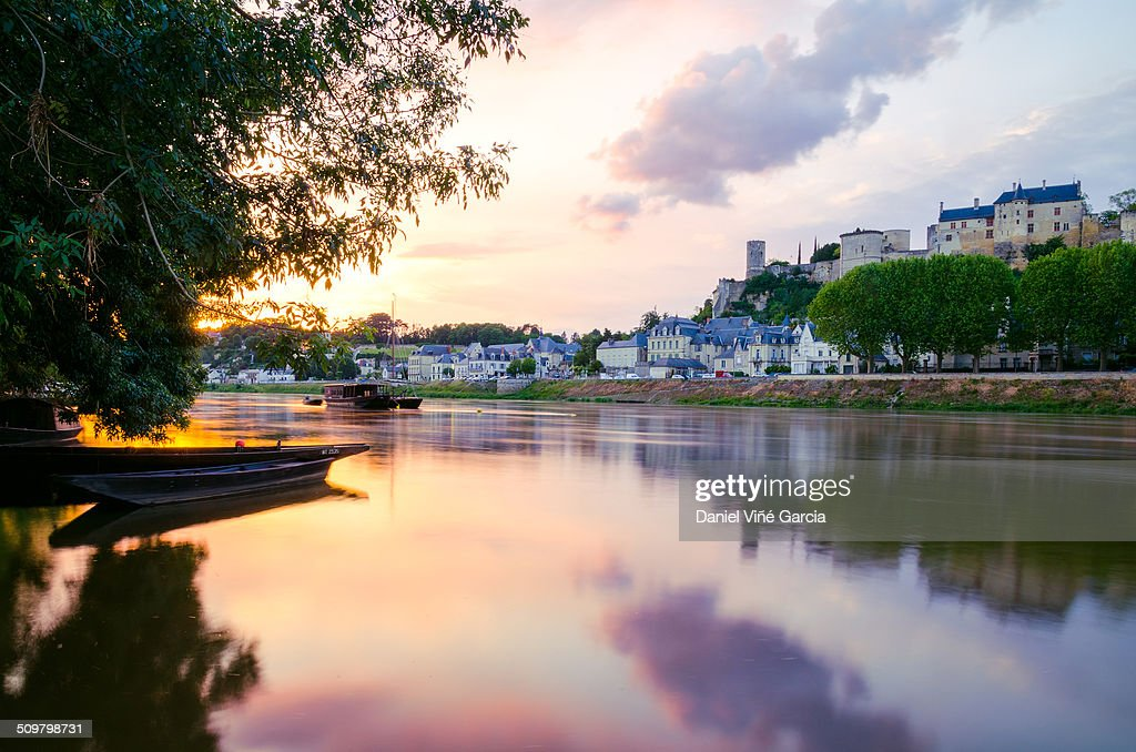 Chinon on the edge of the Vienne river
