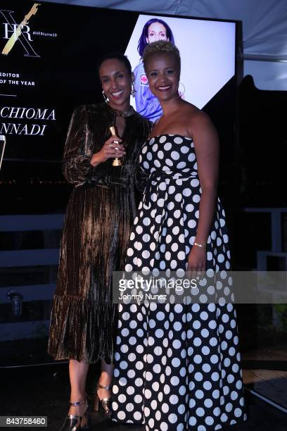 Chioma Nnadi and Brandice Daniel Attend Harlem's Fashion Row at La Marina Restaurant Bar Beach Lounge on September 6 2017 in New York City