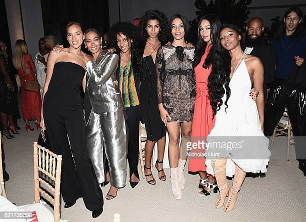 Chioma Nnadi Solange Knowles guest Imaan Hammam Aurora James Laura Harrier and Diana Gordon attend 13th Annual CFDA/Vogue Fashion Fund Awards at...