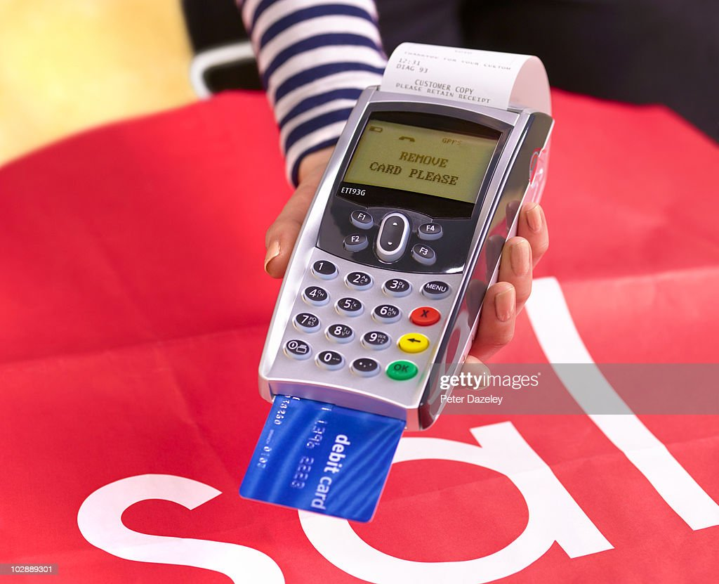 Chip and pin machine with sale carrier bag