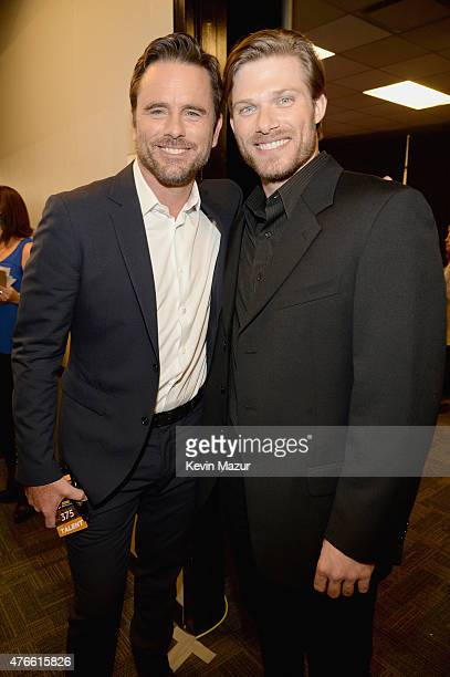 Chip Esten and Chris Carmack attend the 2015 CMT Music awards at the Bridgestone Arena on June 10 2015 in Nashville Tennessee
