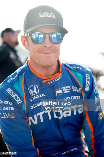 Chip Ganassi Racing driver Scott Dixon is photographed for Sports Illustrated on August 19 2017 at Pocono Raceway Verizon IndyCar Series at Long Pond...