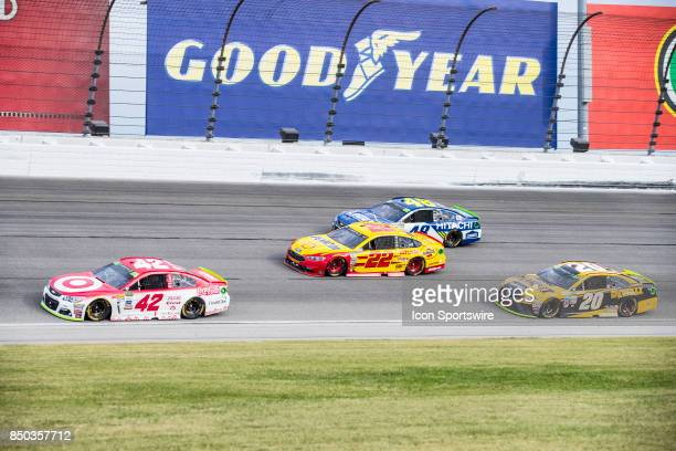 Chip Ganassi Racing Target Chevy driver Kyle Larson Team Penske Shell Pennzoil Ford driver Joey Logano Hendrick Motorsports Lowe's Chevy driver...
